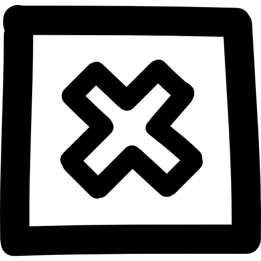 cancel-hand-drawn-cross-in-square-button-outline